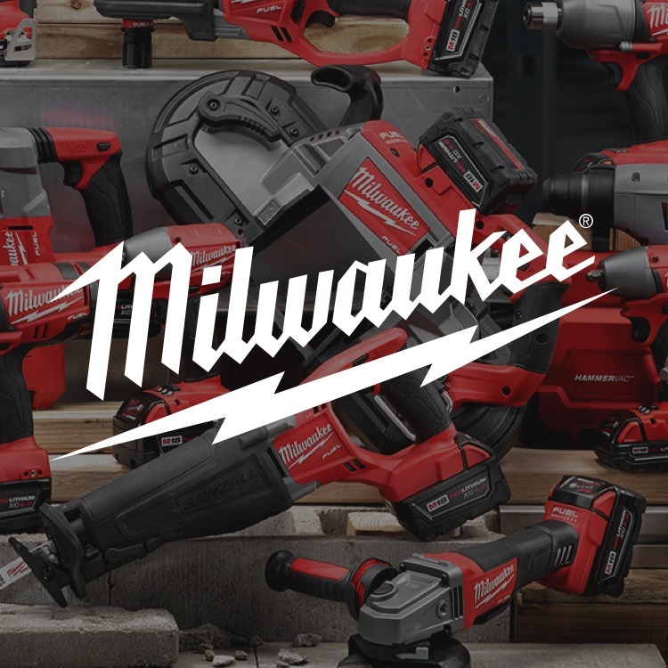Milwaukee Tools on display