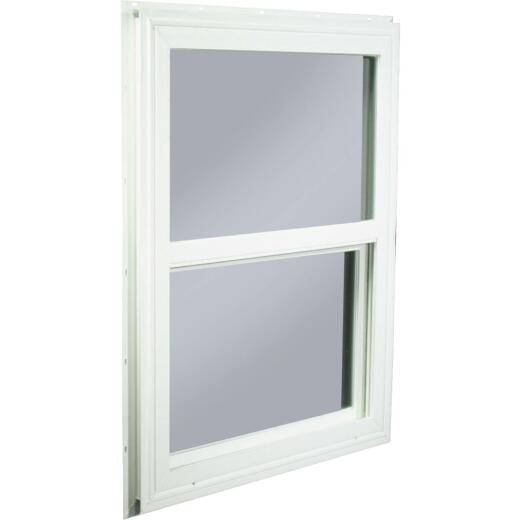 Northview 23-1/2 In. W. x 29-1/2 In. H. White PVC Traditional Single Glazed Single Hung Window