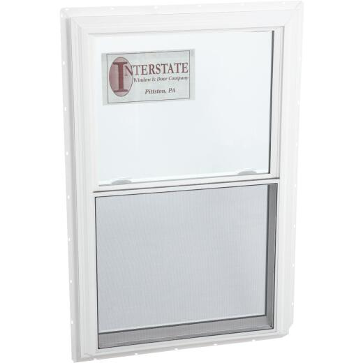 Interstate Model 5100 36 In. W. x 48 In. H. White Vinyl Double Hung Window with South Glass Pack