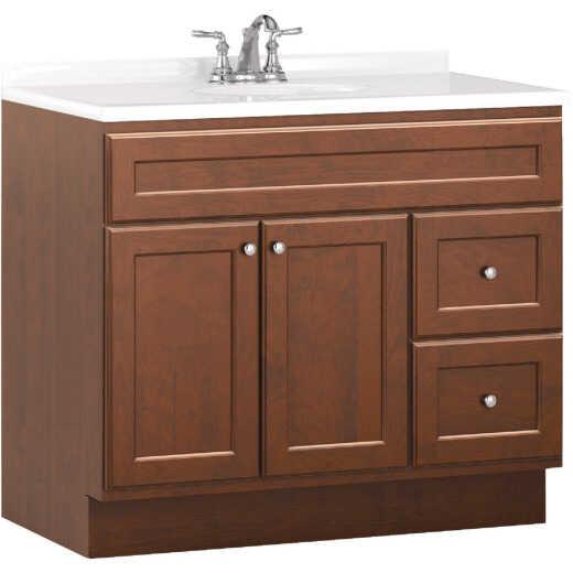 Bertch Northbrook 36 In. W x 34-1/2 In. H x 21 In. D Dawn Vanity Base, 2 Door/2 Drawer