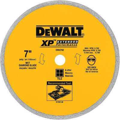 DeWalt Extended Performance 7 In. Continuous Rim Dry/Wet Cut Tile Diamond Blade