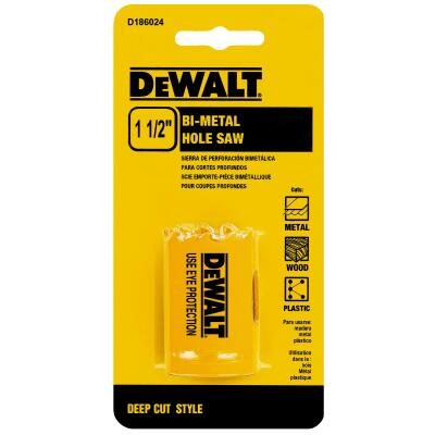 DeWalt 1-1/2 In. Bi-Metal Hole Saw