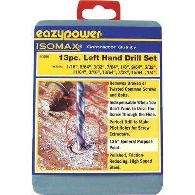Eazypower Left Hand Drill Bit Set (13-Piece)