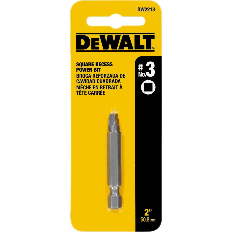 DeWalt Square Recess #3 2 In. Power Screwdriver Bit Image 1