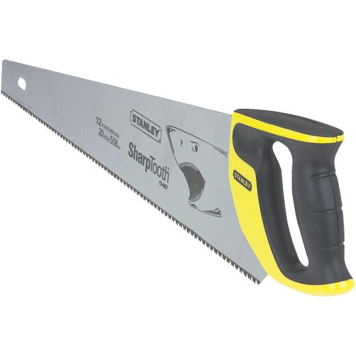 Stanley 20 In. L. Blade 12 PPI Comfort Grip Handle Hand Saw