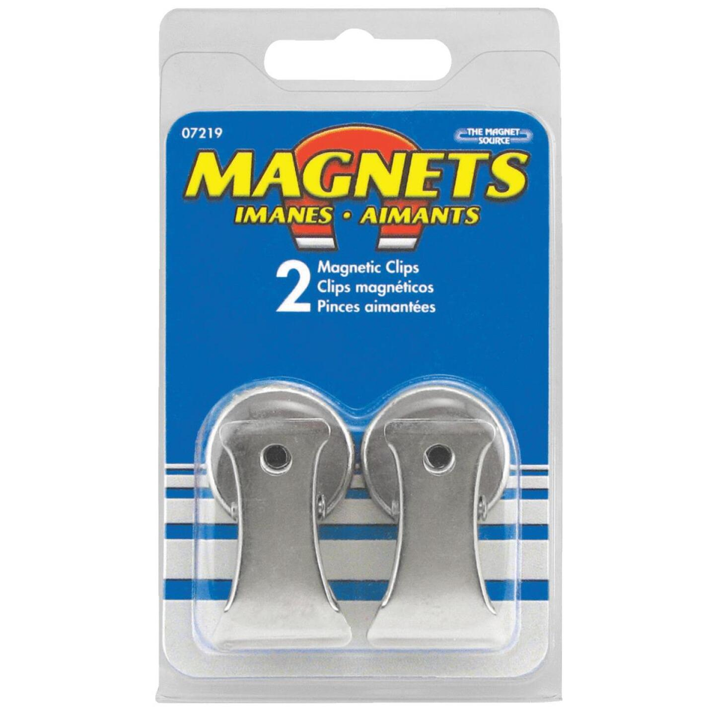 Master Magnetics 1 In. Dia. Chrome Magnetic Note Holder Clip (2-Pack) Image 2