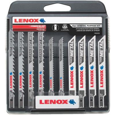 Lenox 10-Piece U-Shank General Purpose Jig Saw Blade Assortment
