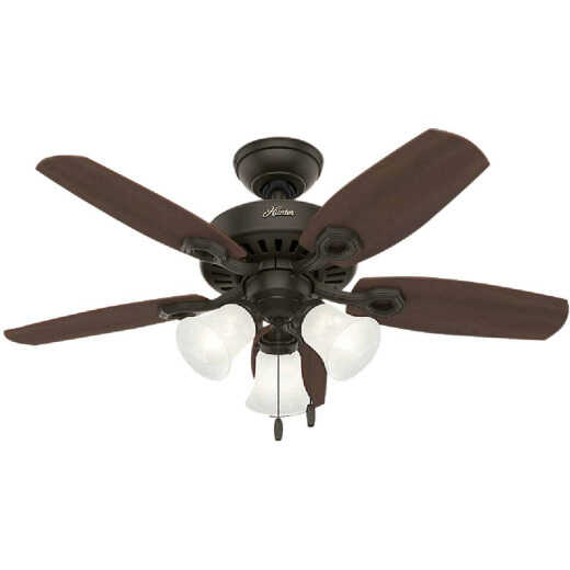 Hunter Builder Small Room 42 In. New Bronze Ceiling Fan with Light Kit