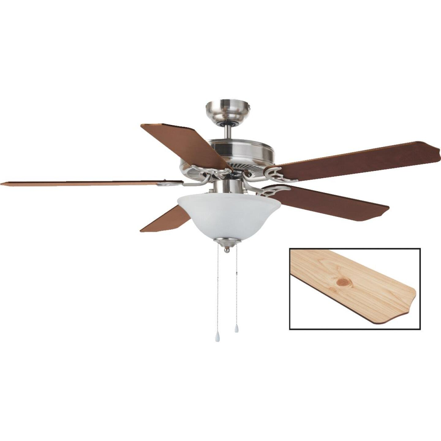 Home Impressions Baylor 52 In. Brushed Nickel Ceiling Fan with Light Kit Image 1
