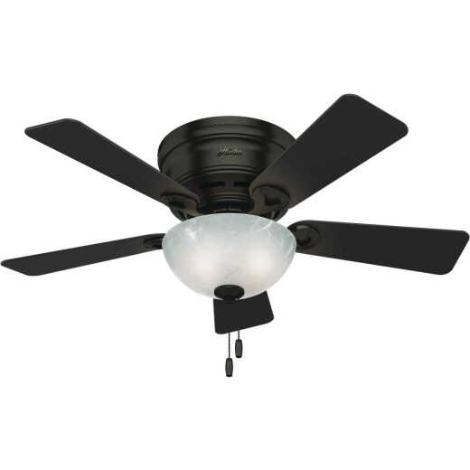 Hunter Haskell 42 In. Premier Bronze Low Profile Ceiling Fan with LED Light Kit