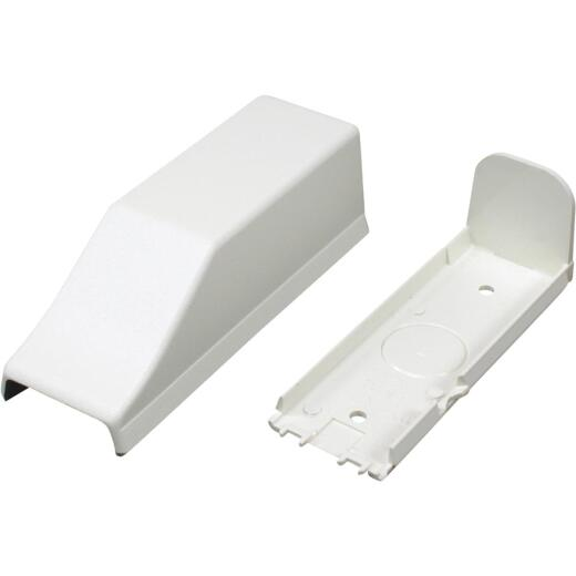 Wiremold CordMate White 1/2 In. PVC Conduit Connector