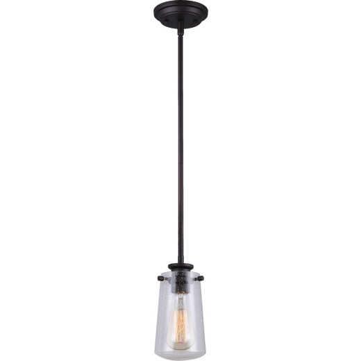 Home Impressions 1-Bulb Oil Rubbed Bronze Incandescent Rod Pendant Light Fixture