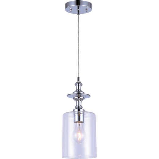Home Impressions York 1-Bulb Chrome Incandescent Cord Pendant Light Fixture