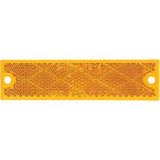 Peterson 1-1/8 In. W. x 4-7/16 In. H. Compact Rectangular Amber Reflector