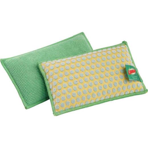 Libman 5 In. x 3 In. Yellow & Green  Kitchen & Bath StayFresh Sponge (2-Count)