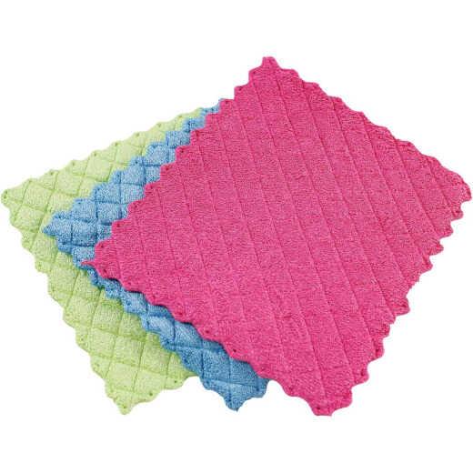Libman 10 In. x 7 In. Microfiber Sponge Cloth (3-Count)