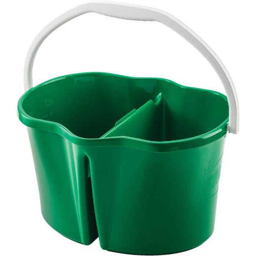 Libman Clean & Rinse 4 Gal. Green Divided Bucket