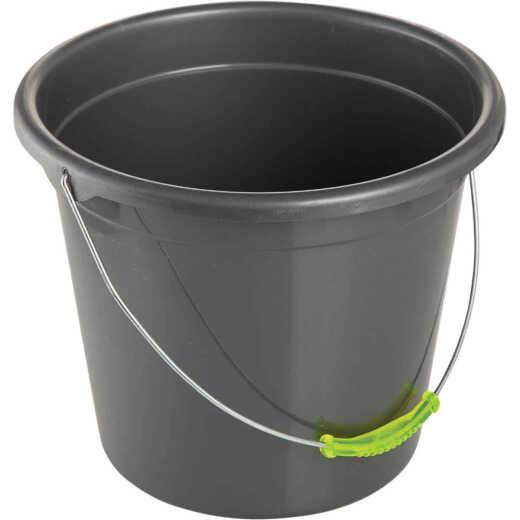 Smart Savers 10 Qt. Black Poly Bucket