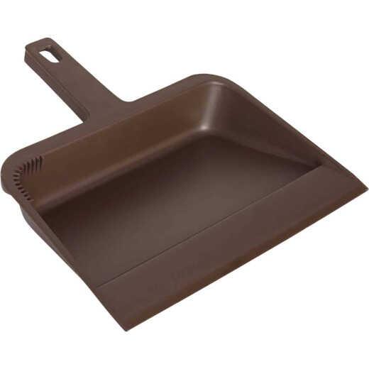 Impact 12 In. Brown Plastic Dust Pan