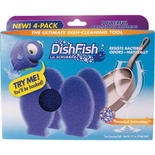 DishFish Lil Scrubber (4 Pack)