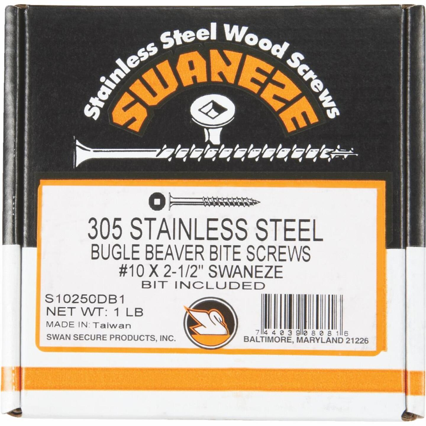Simpson Strong-Tie #10 x 2-1/2 In. Stainless Steel Bugle Head Deck Screw (1 Lb. Box) Image 2