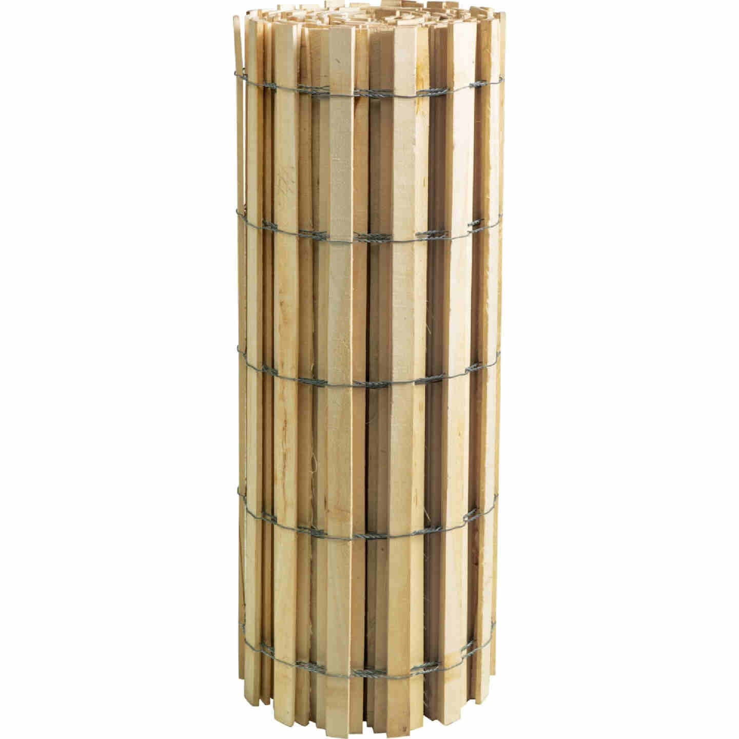 Sourcewood 4 Ft. H. x 50 Ft. L. Wood Snow Safety Fence, Natural Image 1