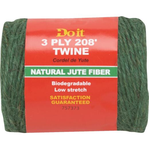 Do it 3-Ply x 208 Ft. Green Jute Biodegradable Twine