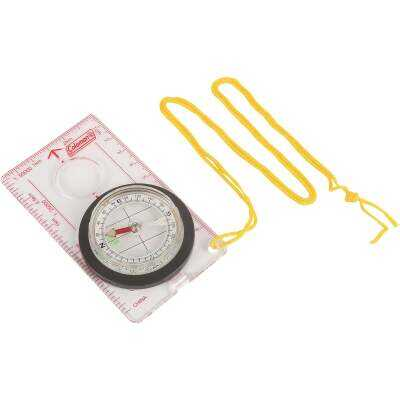 Coleman 4 In. Nickel-Plated Map Compass